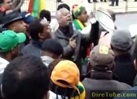 Ethiopians in Washington DC Rally at a GTP Meeting