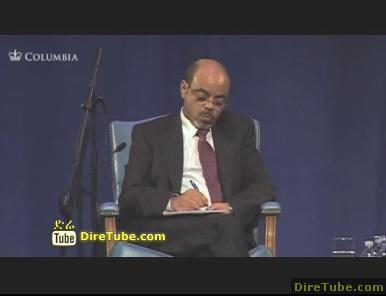Meles Zenawi at World Leaders Forum responding on VOA and other media