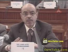 Prime Minister Meles Zenawi addresses the Parliament - October 20, 2011