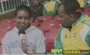 Ethiopian Athletes in Short Distance with Coach Dr. Charles