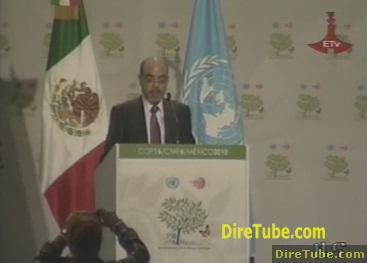Ethiopian PM Meles Zenawi attends Climate change summit in Mexico