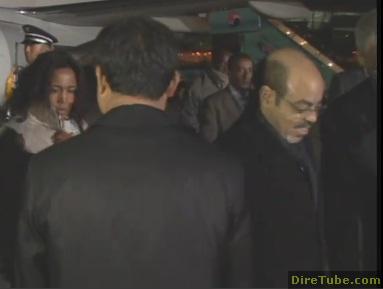 Ethiopia Prime Minister Meles Zenawi seoul arrival