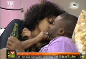 Big Brother Africa - Ethiopian Hanni and Lomwe Kissing @BBA Get Down