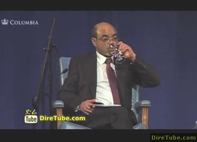 Meles Zenawi at World Leaders Forum on Birtukan Mideksa