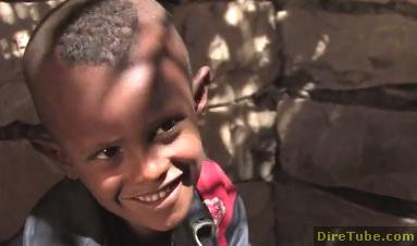 Children help younger friends and neighbours prepare for primary school in Ethiopia
