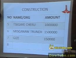 ETV Live! - Construction Sectors on Grand Renaissance Dam Fund Raising - Part 6